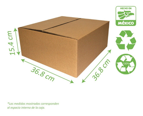 Caja Para Envios E-commerce 10 Pzas 36x36x15 Cm Corrugado