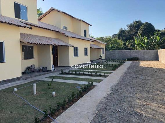 Casa Com 1 Dormitório À Venda, 50 M² - Condado De Maricá - Maricá/rj - Ca3749