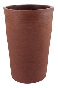 Vaso Decorativo De Planta Flor Coluna Redonda 34x25x50