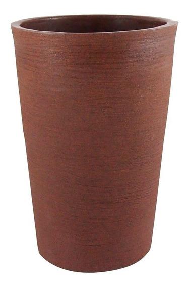 Vaso Decorativo De Planta Flor Coluna Redonda 33x25x49