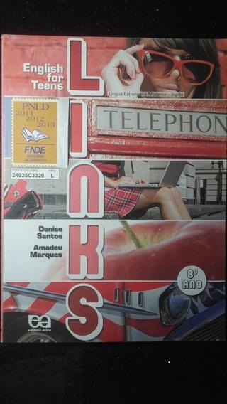 Livro - English For Teens Links 8° Ano Com Cd