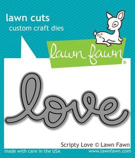 Suaje Cortador Lawn Fawn Scrapbook Manualidades Letrero Love