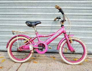 Bicicleta Olmo Rosa Rod.16 Portaequipaje