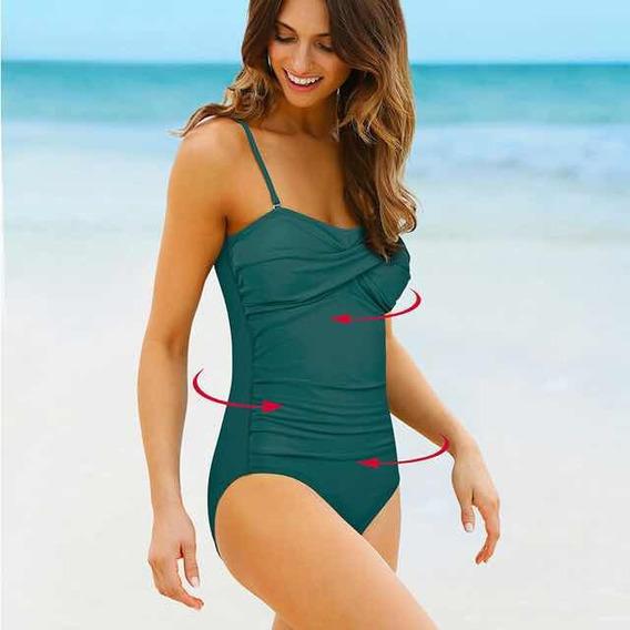Traje De Baño Completo Bikini Mujer Dama Efecto Push Up