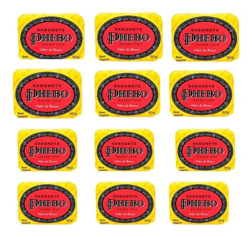 Imagem 1 de 6 de Sabonete Phebo Odor De Rosas - Kit C/12 Unidades