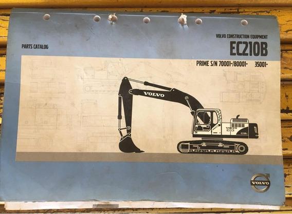 Catalogo De Peças Escavadeira Volvo Ec210b