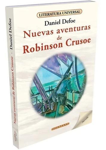 Libro. Nuevas Aventuras Robinson Crusoe. Daniel Defoe.