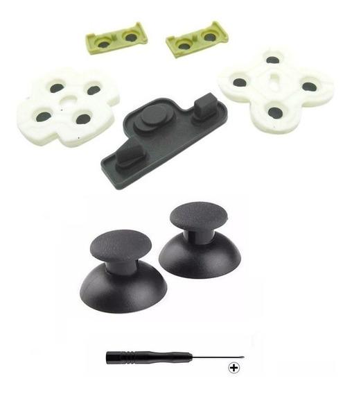 Kit Reparo Borrachas + 2 Botões + 1 Chave Controle Ps3