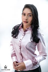 Camisa Feminina Punho Frances Tam 42