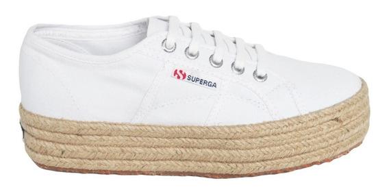 Tênis Superga 2790 Cotu Classic Juta Branco