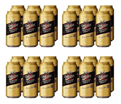 Imagen 1 de 10 de Miller Rubia . Cerveza . 473ml X 24 - Tomate Algo® -