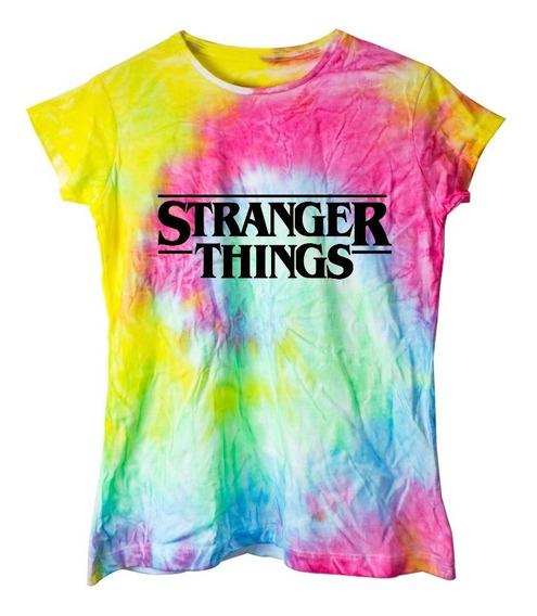 Playera Tie Dye Colores Stranger Things Moda Mujer Envio Gratis