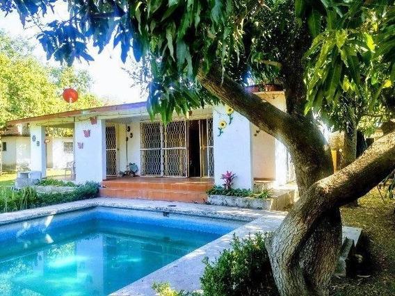 Vendo Casa Alberca Y Amplio Jardín 703m2 Terreno Yautepec Morelos