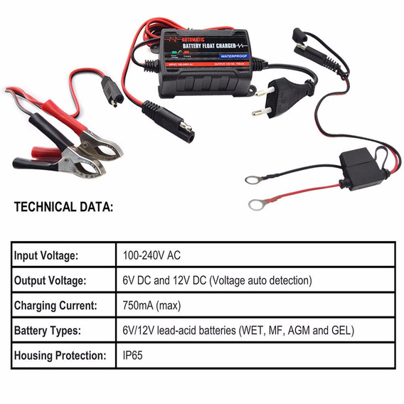Carregador De Bateria 12v Hd/motos