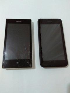 Lote Com 2 Nokia Lumia Rm 915 E Rm 1020 No Estado.