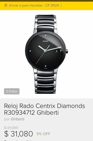 Rado Centrix Diamonds Mov. Cuarzo Como Nuevo . Excelente.