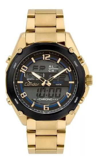 Relógio Condor Masculino Anadigi Dourado Coy121e6aa/4p