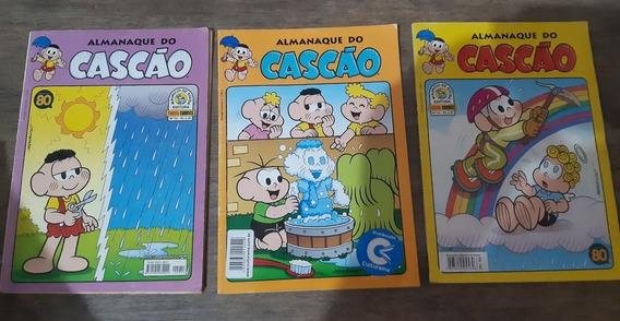 Kit 3 Gibis Almanaques Do Cascão Semi Novoz