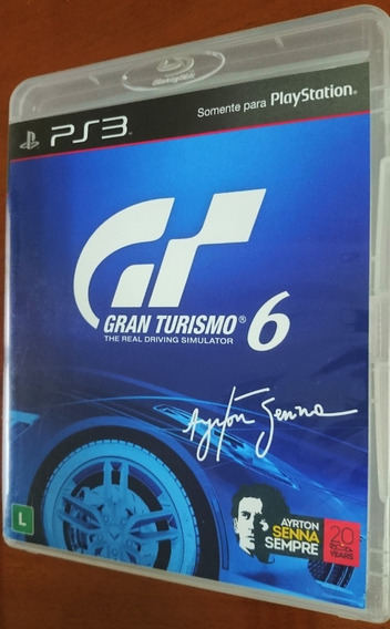Jogo Gran Turismo 6 Ps3 Ayrton Senna Mídia Fisica Original