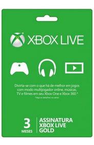 Xbox Live Gold 3 Meses Br Usa Xbox One Xbox 360 - Código