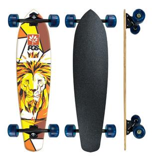 Skate Longboard Barato Completo Pgs Leão Rei