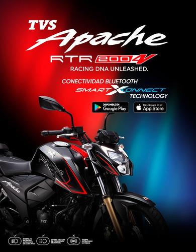 Tvs Apache Rtr 200 4 Valvulas Modelo 2022, Garantia Auteco
