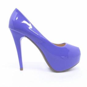 e33e398f78 Scarpin Lilás Salto Alto Lilás Feminino - Sapatos no Mercado Livre ...