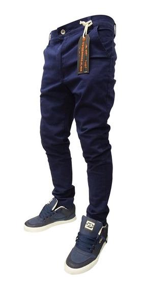 Pantalon Bross Hombre Bolsillo Chino Azul-hombre