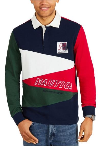 Playera Tipo Polo Rugby Nautica Original Y Nueva