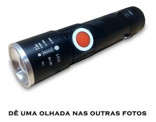 Mini Lanterna Led Camping Impermeável 100m B-max 8411 Usb
