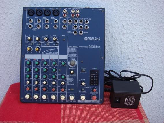 Mesa De Som Yamaha Modelo Mg-82 Cx C/efeitos.
