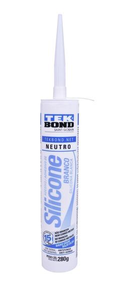 Silicone Neutro Branco Tubo 280gr Tekbond