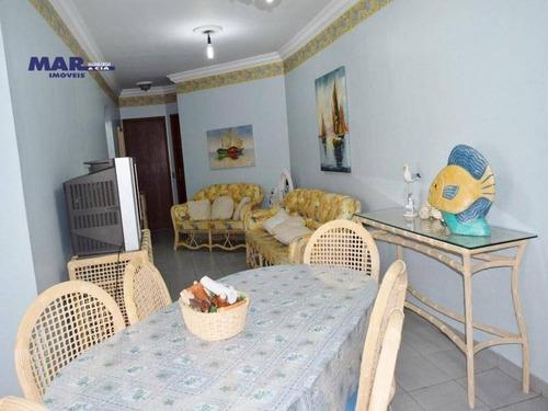 Imagem 1 de 12 de Apartamento À Venda No Guarujá,  Na Praia Das Astúrias, Próximo Da Praia, 02 Vagas De Garagem E Lazer. - Ap11031