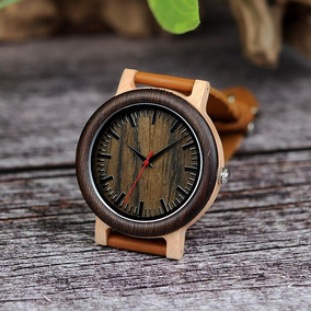 Relógio Unissex Madeira Artesanal M14a Bobo Bird