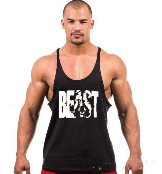 Playera Olimpica Gym Beast Estampado Hombre Camiseta Tirante