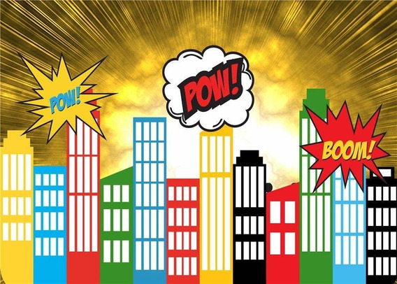 Daniu Screen Background Super Hero City Photo Props For Stud
