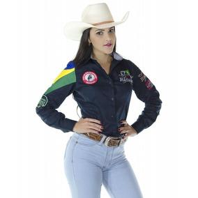 Camisa Country Feminina Radade Barretos Preta + Brinde!