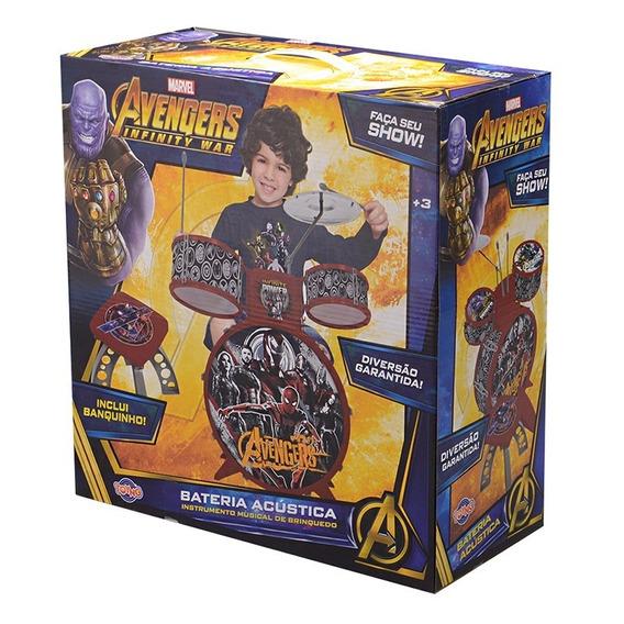 Bateria Musical Vingadores - Toyng