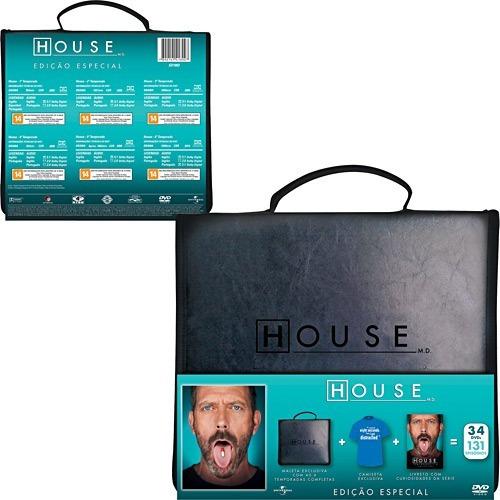 Maleta House 6 Temporadas Porta-cds 34 Dvds Lacrado Original
