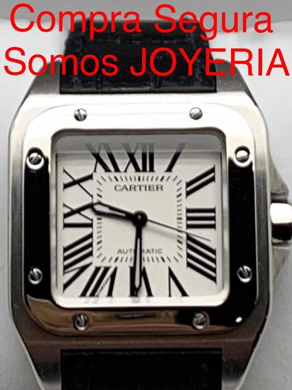 Cartier 65mil Santos 100 Mediano Full Set Caja Papeles Todo