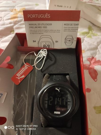 Relógio Digital Puma, Com Cinta Cardíaca