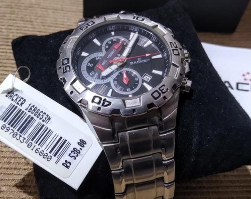 Relógio Backer Cronógrafo - Máquina Seiko - Completo