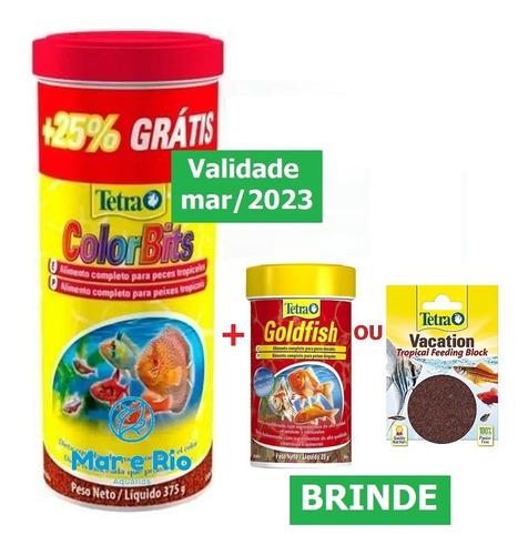 Imagem 1 de 7 de Ração Tetra Colorbits Granules 375g Acará Bandeira E Discos