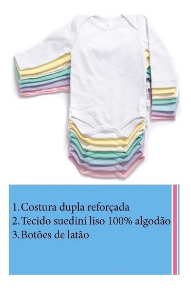 Bodys M. Longas Suedini 100% Algodão # Promoção Do Dia !!!
