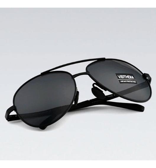 Oculos De Sol Aviador Lente Polarizada Com Uva Uvb Masculino