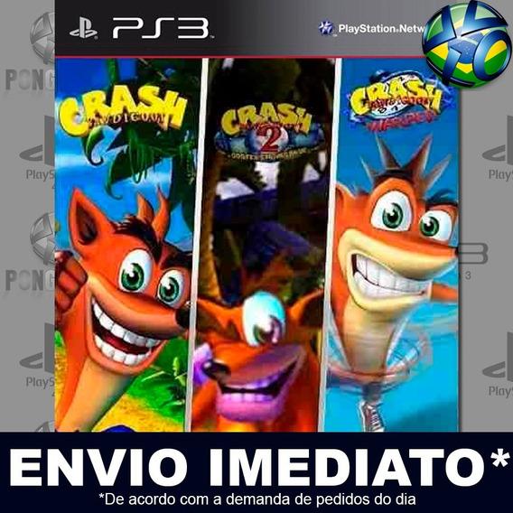 Crash Bandicoot Trilogia 1 2 3 Ps3 Psn Jogo Em Promoção