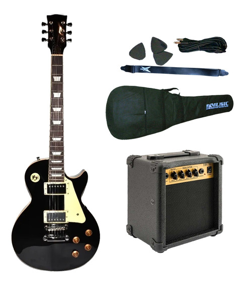 Combo Guitarra Electrica T/ Les Paul + Amplificador 10w +acc