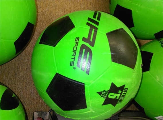 10 Balones Para Futbol De Hule Fire Sports # 5, Verde