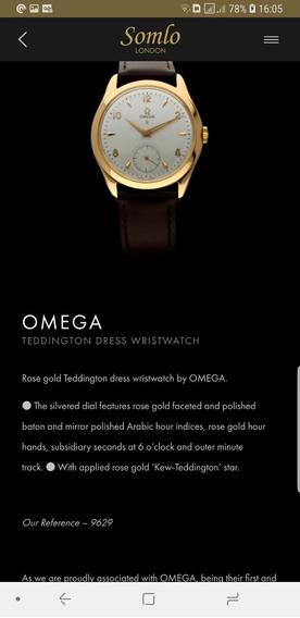 Relogio Omega Teddington Gold Star