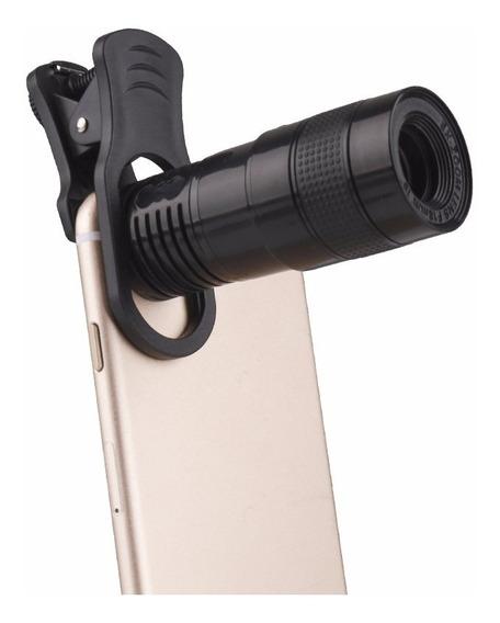 Universal Phone Camera Telephoto Lens - Preto